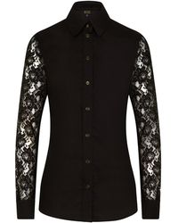 Sophie Cameron Davies - Black Cotton Slim Shirt - Lyst