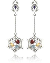 Manja - Anansi Earrings Silver - Lyst