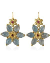 Emma Chapman Jewels - Bellatrix Aquamarine Pink Tourmaline Earrings - Lyst