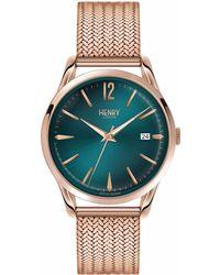 Henry London - Ladies 39mm Stratford Stainless Steel Bracelet Watch - Lyst