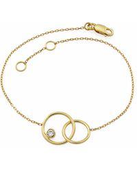 MONARC JEWELLERY - The Meridian Night Bracelet In 9ct Gold & White Topaz - Lyst