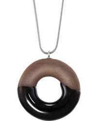 Tadam! Design - Cocoa Doughnut Necklace Silver - Lyst