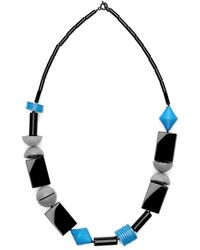 Scenery Label - Oblong Bead Necklace - Lyst