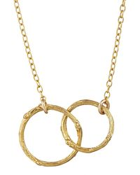 Chupi | Just The Two Of Us Hawthorn Twig Circle Necklace In Gold | Lyst