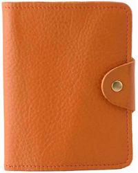 N'damus London - Luxury Italian Leather Orange Passport Cover - Lyst