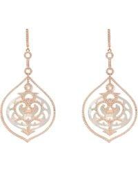 LÁTELITA London - Rosegold Large Carved Pearl Earring - Lyst