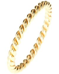 LÁTELITA London - Cosmic Large Twisted Flax Ring Gold - Lyst