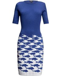 Rumour London - Sea & Sky Azure Blue Knitted Dress - Lyst