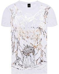 Raddar7 - Universe Gothic Metallic Foil Print T-shirt - Lyst
