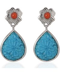 Emma Chapman Jewels - Aztec Coral Turquoise - Lyst