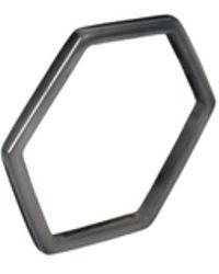 Tada & Toy - Hexagon Tree Ring Black - Lyst