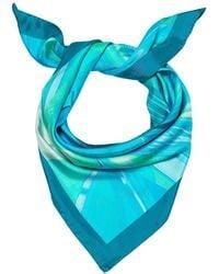 Madison Knight - Pacific Blue Arden Silk Scarf - Lyst