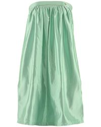.MCMA. London - Strapless Mint Midi Dress - Lyst
