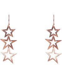 LÁTELITA London - Cosmic Triple Star Earring Rosegold - Lyst