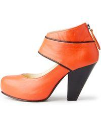 NINE TO FIVE - Ankle Zip Pump Vineta Indian Orange - Lyst