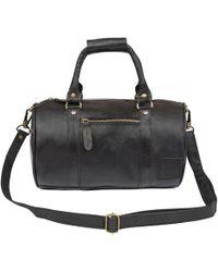 MAHI - Mini Duffle Handbag In Black Leather - Lyst