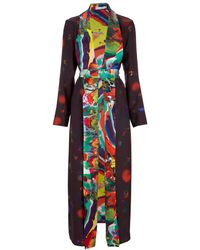Klements - Long Line Silk Jacket - Lyst
