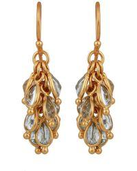 Carousel Jewels - Blue Topaz Cluster Earrings - Lyst