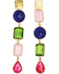 Magpie Rose - Deconstructed Gems Cocktail Earrings - Lyst