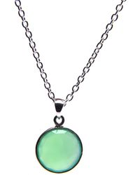 Puck Wanderlust - Chrysoprase Silver May Birthday Charm Necklace - Lyst