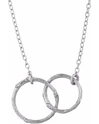 Chupi - Just The Two Of Us Hawthorn Twig Circle Necklace In Silver - Lyst