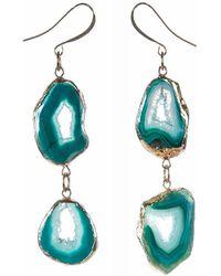 Tiana Jewel - Savannah Green Druzy Earrings Zahara Collection - Lyst
