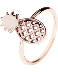 LÁTELITA London - Cosmic Pineapple Ring Rosegold - Lyst