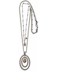 Platadepalo - Classic Silver And Zircon Necklace - Lyst