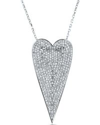 Cosanuova - Circle Pave Diamonds Necklace 14k White Gold - Lyst