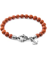 Anchor & Crew - Red Jasper Port Natural Stone Bracelet - Lyst