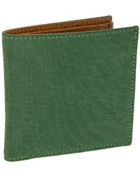 40 Colori - Green Solid Washed Mogador & Leather Wallet - Lyst