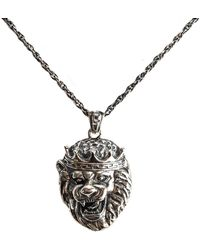 Serge Denimes | Silver Lion Head Necklace | Lyst