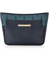 Catherine & Jean - Catherine Clutch In Midnight Blue Peacock - Lyst