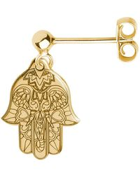 CarterGore - Gold Hamsa Hand Single Short Drop Earring - Lyst
