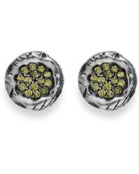 Platadepalo - Green Zircon Silver Earrings - Lyst