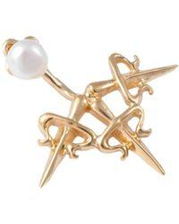 Leivan Kash - Dagger Ear Jacket Gold - Lyst