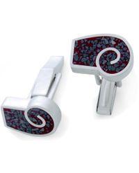 Jan D - Red Resin Inlay Cufflinks - Lyst