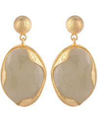 Carousel Jewels - Sapphire & Gold Nugget Drop Earrings - Lyst