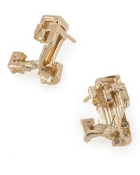 Noritamy - Gold Stud Earrings - Lyst