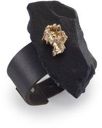 Noritamy - Black & Gold Bracelet - Lyst