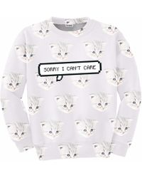 Aloha From Deer - I Can't Care Sweatshirt - Lyst