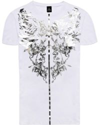 Raddar7 - Scorpion Flower Metallic Embossed Vintage Gothic White T-shirt - Lyst