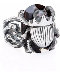 Yasmin Everley - Little Scarab Cocktail Ring - Lyst