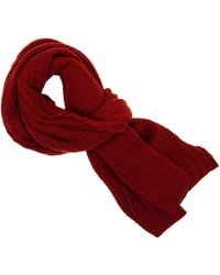 40 Colori - Red Small Braided Wool & Cashmere Scarf - Lyst