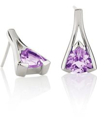 Manja - Valentine Amethyst Earrings - Lyst