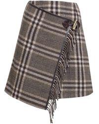 Rumour London - Isla Checked Wool-blend Mini Skirt - Lyst
