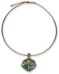 Bellus Domina - Aventurine Dragonfly Necklace - Lyst