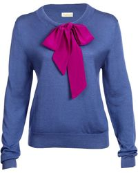 Asneh - Helen Sweater With Silk Pussy-bow - Lyst