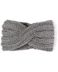 Alma Knitwear - Cassey Merino Earwarmer Grey - Lyst