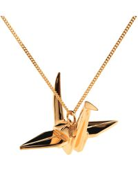 Origami Jewellery | Crane Necklace Gold | Lyst